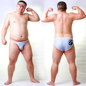 Image 3 - Nieuwe Aankomst Beer Klauw Plus Size mannen Netto Slips Sexy Shorts Gay Bear Ademend Ondergoed Neon Geel/Licht blauw/Rood M L XL XXL