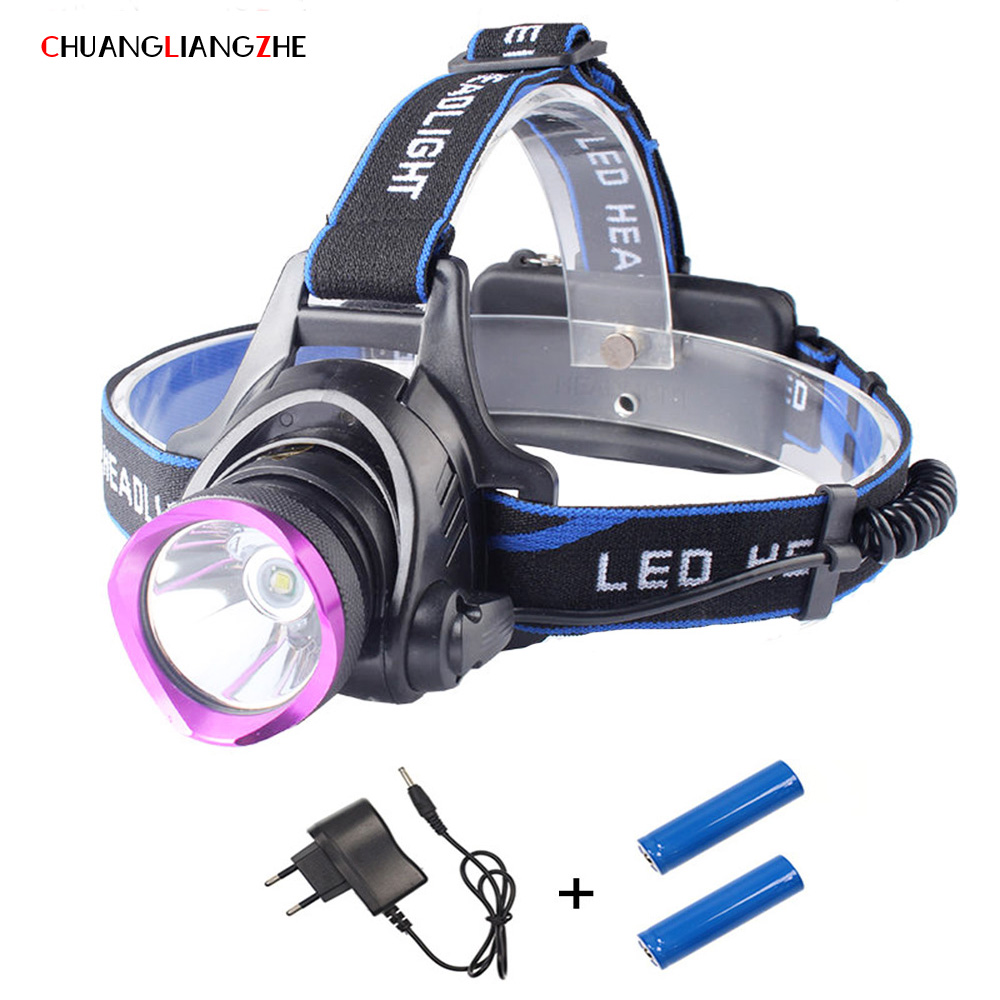 CHENGLIANGZHE SML-T6 Strong Head Light LED Outdoor Lighting Long-range Charging Waterproof Fishing Light Hunting Searchlight