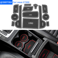 13Pcs/Set For Lexus CT200 Car Styling Slot Pad Interior Door Groove Mat Latex Anti-Slip Cushion Car Internal Dedicated