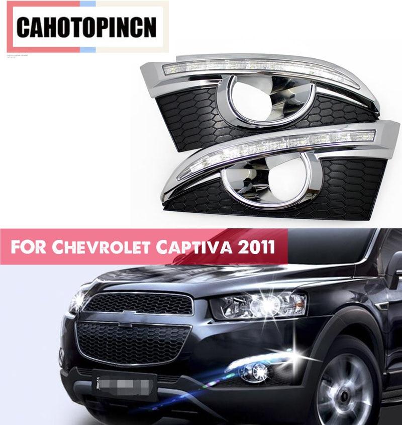 For Chevrolet Captiva 2011 2012 2013 car styling Waterproof 12V LED DRL Daylight Daytime Running Lights