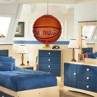 Creative Novel Fashion Sports Basketball Glass Led E27 Pendant Light For Children S Room Bedroom Dia