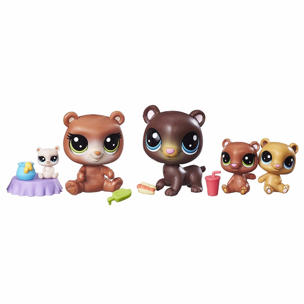 New in box LPS Cubby Hill Pack Bear Honeypot Collection figures Toys Gift 12pcs set children kids toys gift mini figures toys little pet animal cat dog lps action figures