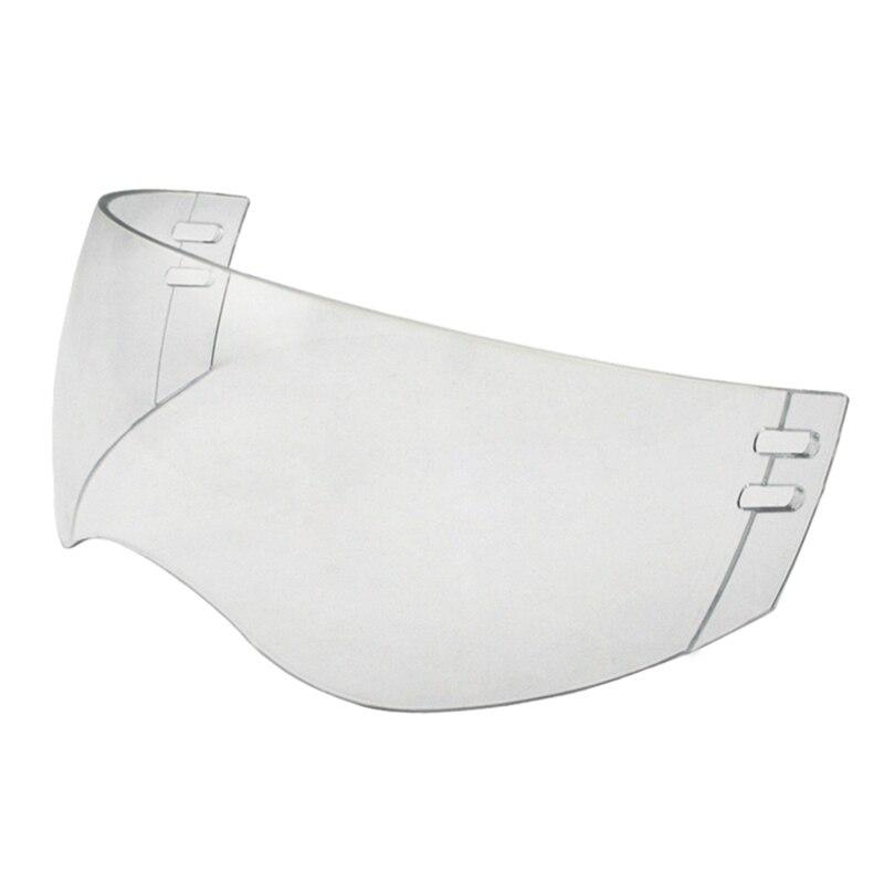 Prix pour Approvisionnement d'usine CE Hockey Visière Extérieur anti-rayures Et Anti-buée À L'intérieur Fumée Visière équipement de hockey sur glace