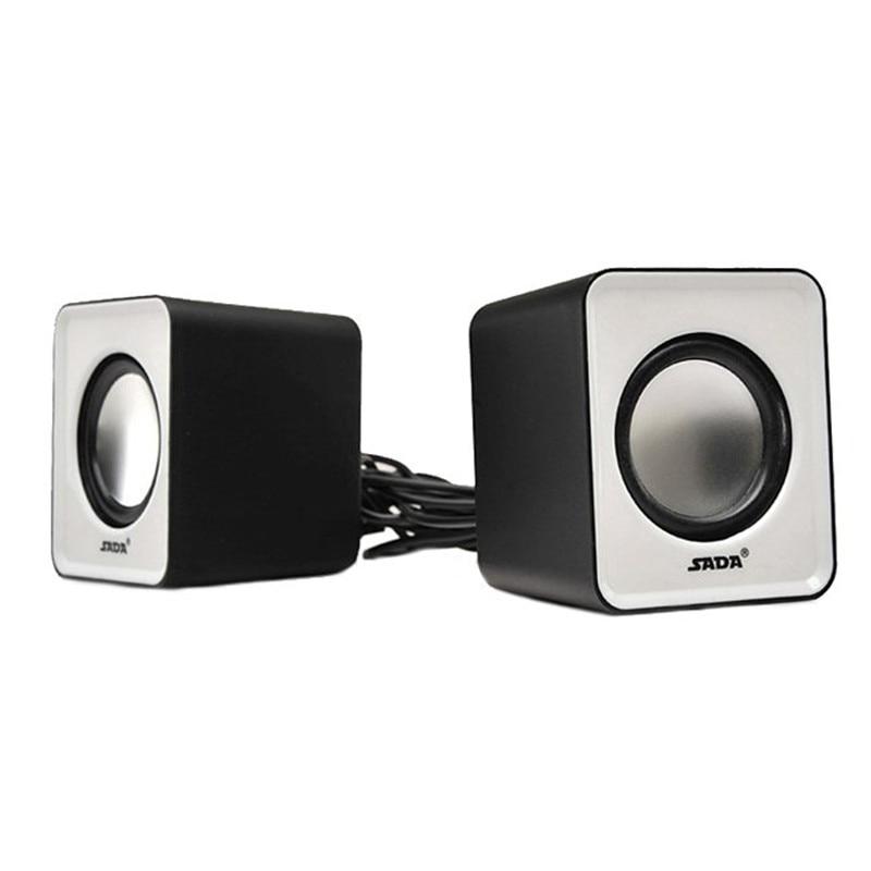 SADA 3D Stereo Mini Computer Speakers Portable Wired Speakers 1 Pair Bass Multimedia Speakers for Desktop Computer Laptop