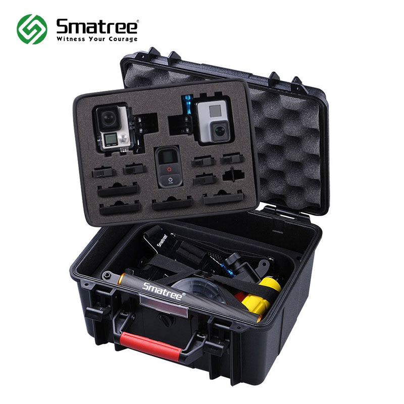 Smatree GA700 2 with ABS materials Floaty/Water Resist Hard Case for Gopro Hero 8/7/6/5/4/3+/3/Hero 2018 for DJI OSMO Action|for gopro hero|case hero 2|smatree gopro - title=