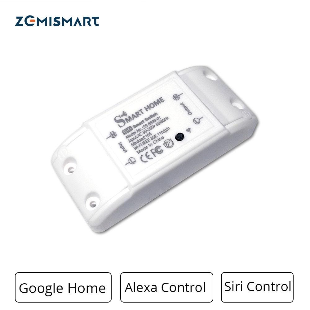 Hogar Inteligente Wifi interruptor de Control de voz por Alexa Siri DIY módulos de Control de temporizador y la traje para bombilla Fan TV Etc
