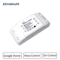 Smart Home Wifi Switch Voice Control by Alexa Siri DIY Modules Timer Control On and Off Suit for Bulb Fan TV Etc.