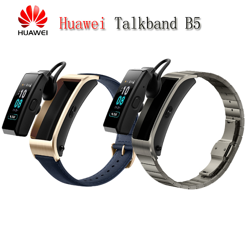 Original Huawei TalkBand B5 Talk Band Bluetooth Smart Bracelet Wearable Sports Wristbands Touch AMOLED Screen Call Earphone Band original huawei talkband b2 health smart bracelet band