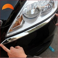For Ford Focus 2009 2010 2011 ABS Chrome Front Lamp Headlight Eyebrows Trim Car Style Trim