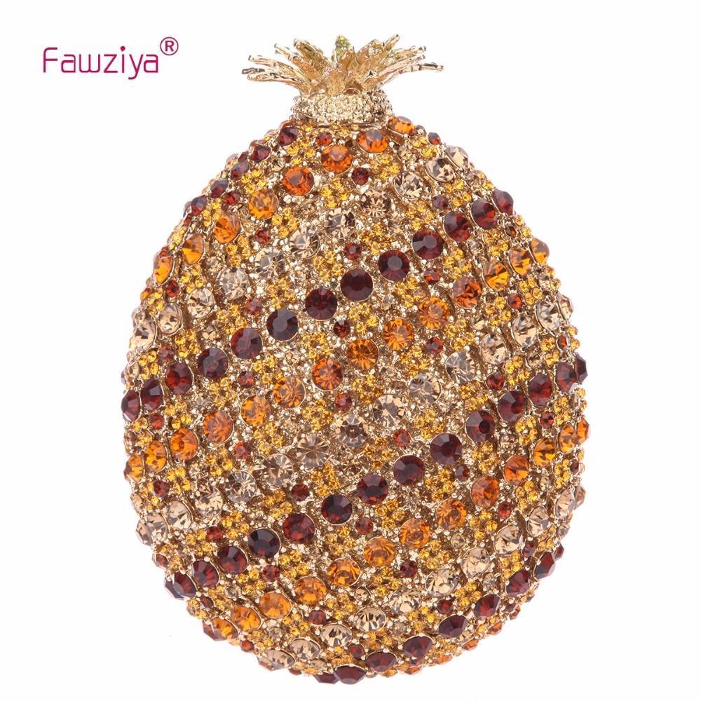 Fawziya Woman Bags Luxury Designers Pineapple Womens Purses Handbags For Women Evening Clutch fawziya bag rhinestone 15cm luxury natural stone purses and handbags for womens bags