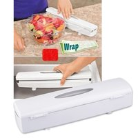 Useful Multifunction Kitchen Food Cling Wrap Foil Dispenser Cutter Plastic Preservative Film Tools Kitchen Supplies