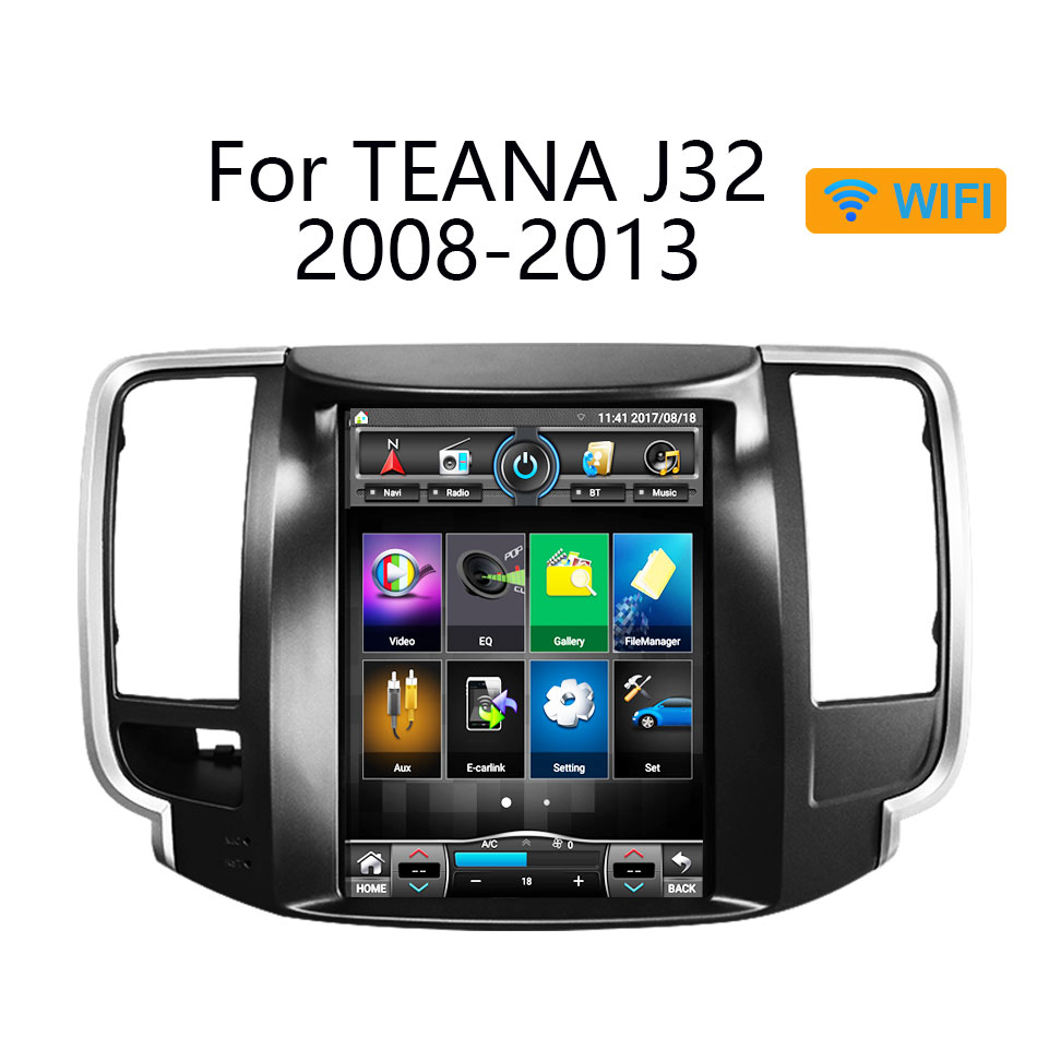 Android 6.0 RAM2GB Tesla style Quad core Android 1024*600 9.7 pouces voiture GPS Navigation pour Nissan teana J32 2008-2012