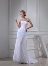 free shipping 2014 new design fashion girls dresses small train lace bridal gown custommade size/color white wedding