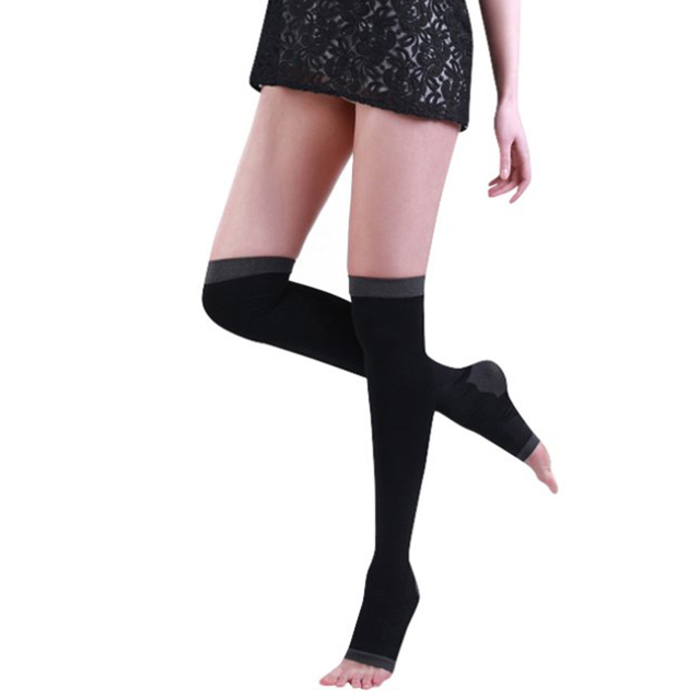 00c9c410c Sale Women Anti cellulite Compression Step on The Foot Tights Socks ...