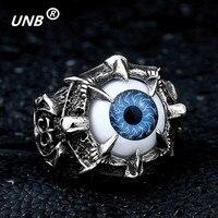 Big Eye Rings Vintage Skull Eye Of Evil Dragon Claws Men S Rings Stainless Steel Engraving
