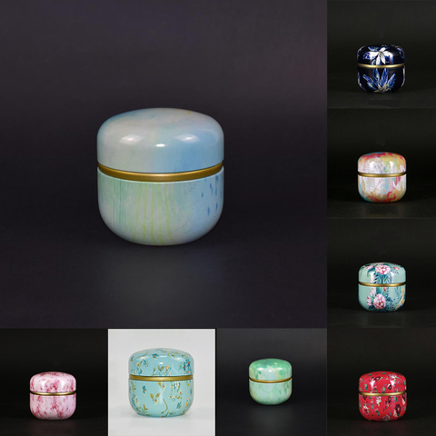 Powder Tea Jar Cans With Lid Storage Boxes Coffee Mini Multifunction Chinese Style Round Metal Islamabad