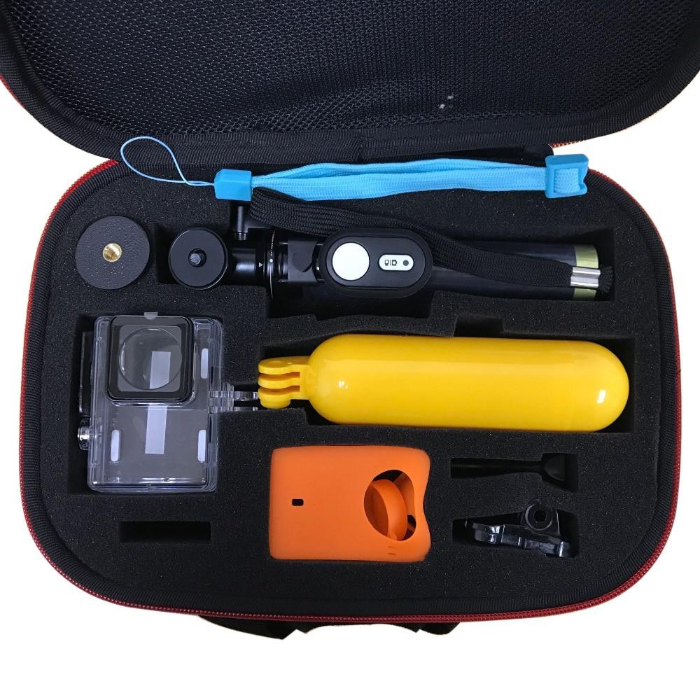 Tekcam für Xiaomi yi 4 karat Zubehör Set für Xiaomi yi 2 xiaomi yi 4 karat plus yi Fall Bluetooth Selfie Stick 30 Mt Wasserdicht fall