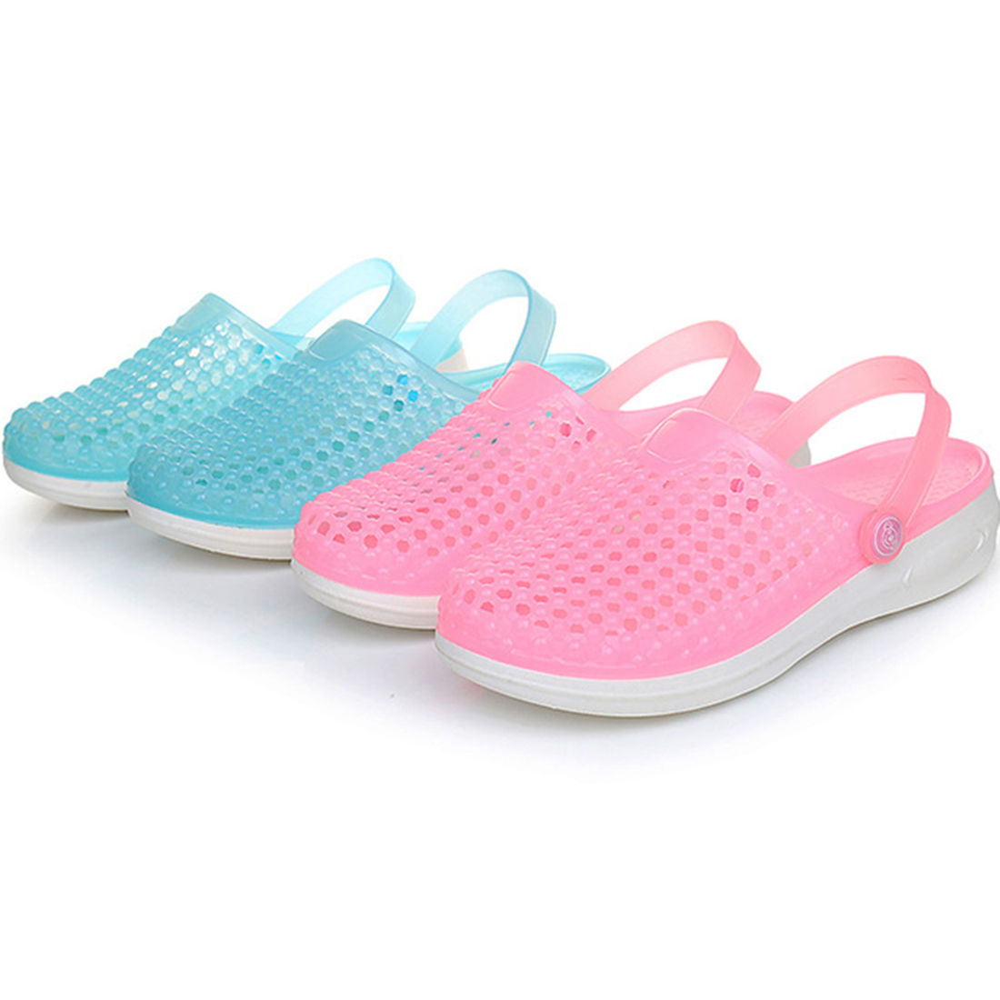 Summer Women Mules Clogs Summer Beach Breathable Slippers