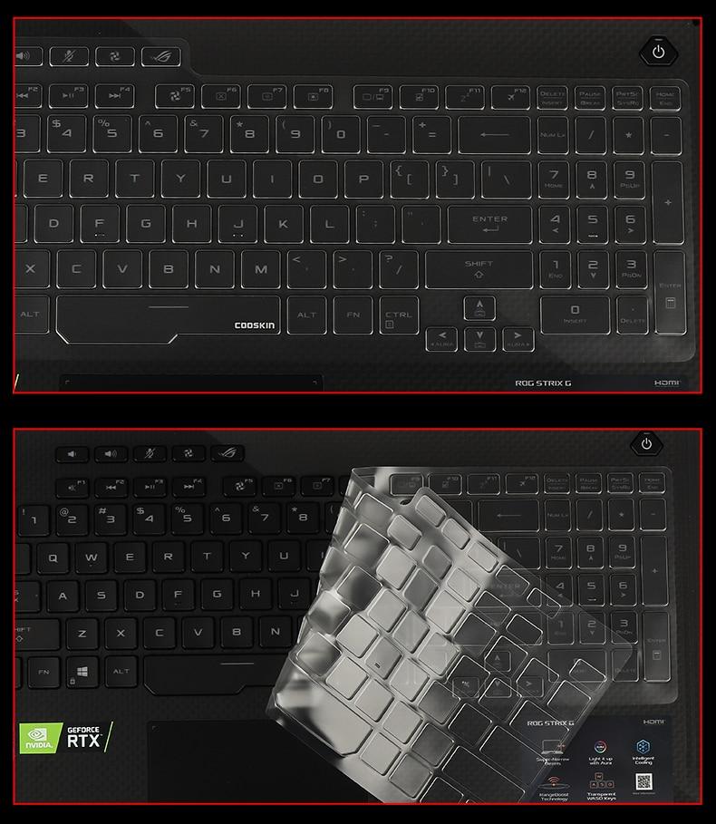 """Ультратонкий Прозрачный чехол-клавиатура из ТПУ для ноутбука ASUS ROG Strix G G731GV G731GU G731GW 17,3"""""""