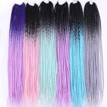 100 г/шт. коробка коса деграде цвет синтетические плетеные волосы крючком косы волосы для черных женщин