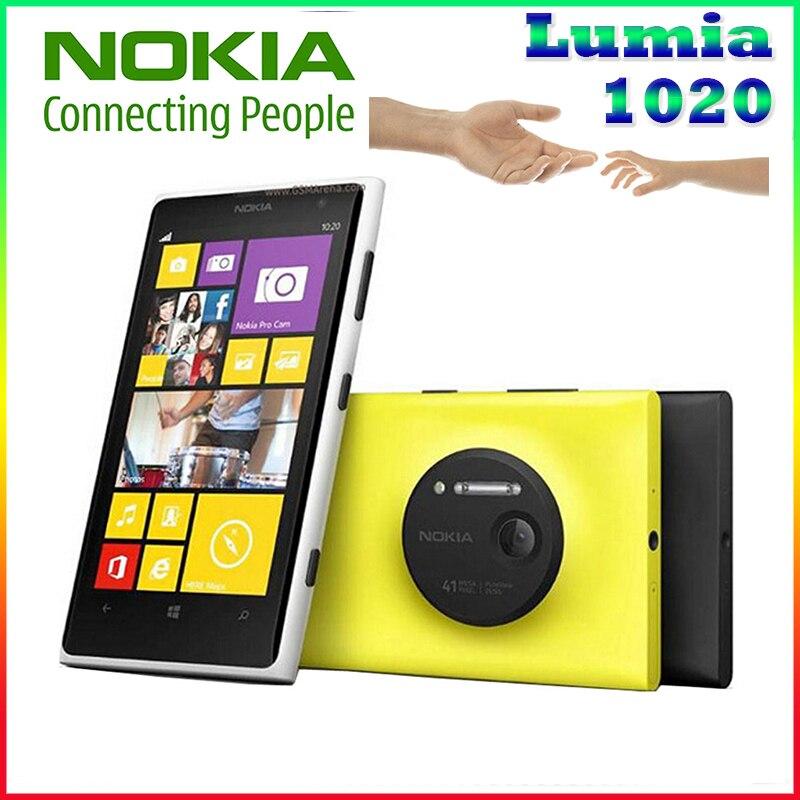 Original Phone Nokia lumia 1020 Windows phone 2GB 32GB Camera 41MP GPS Wifi 4 5 inch