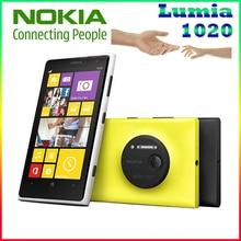 Téléphone d'origine Nokia lumia 1020 Windows phone 2 GB 32 GB Caméra 41MP GPS Wifi 4.5 pouce Écran Déverrouillé Lumia 1020 mobile téléphone