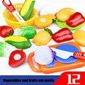 Snowshine3 YLW 12 шт. Резка фрукты овощи Ролевые игры детские развивающие игрушки настольная игра - фото