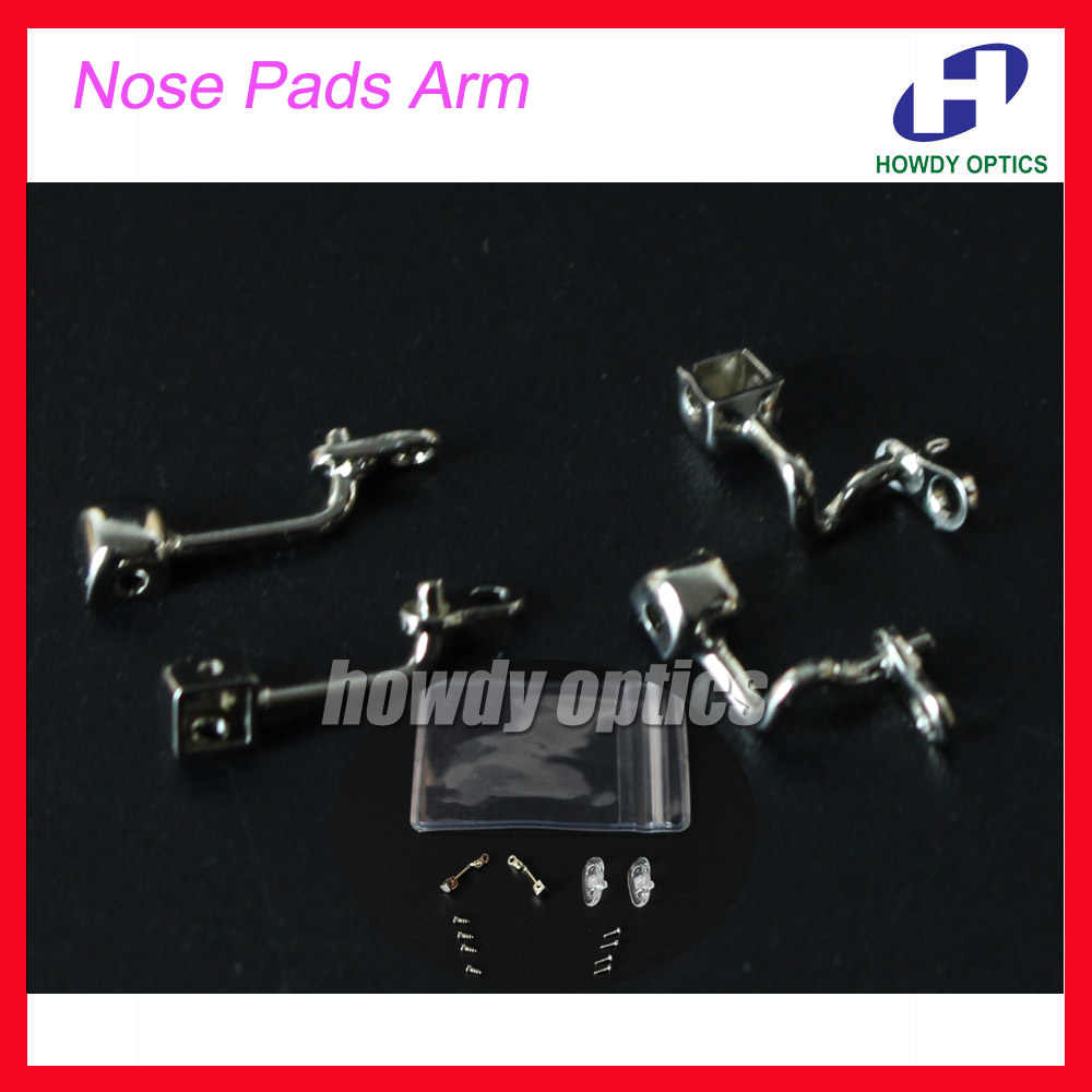 Glasses Eyewear Eyeglasses Nose Pads Arm Stainless Steel Nose Pads Holder With Screw Glasses Accessories