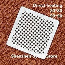 Doğrudan ısıtma 80*80 90*90 SEMS30 C SEMS30 BGA Stencil Şablon
