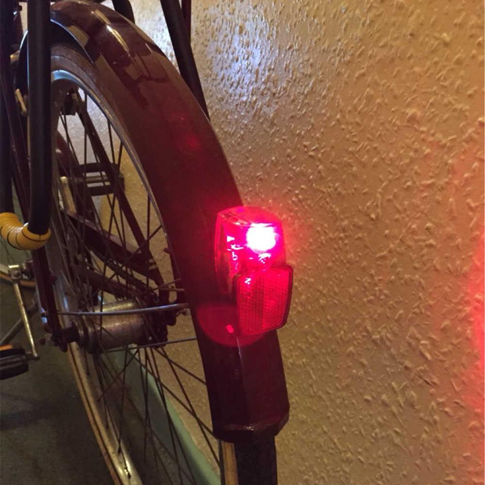 JS Leds batterie garde-boue vélo lumière monter sur le garde-boue rouge en plastique sûr avertissement vélo feu arrière vélo lumière arrière lampe de poche