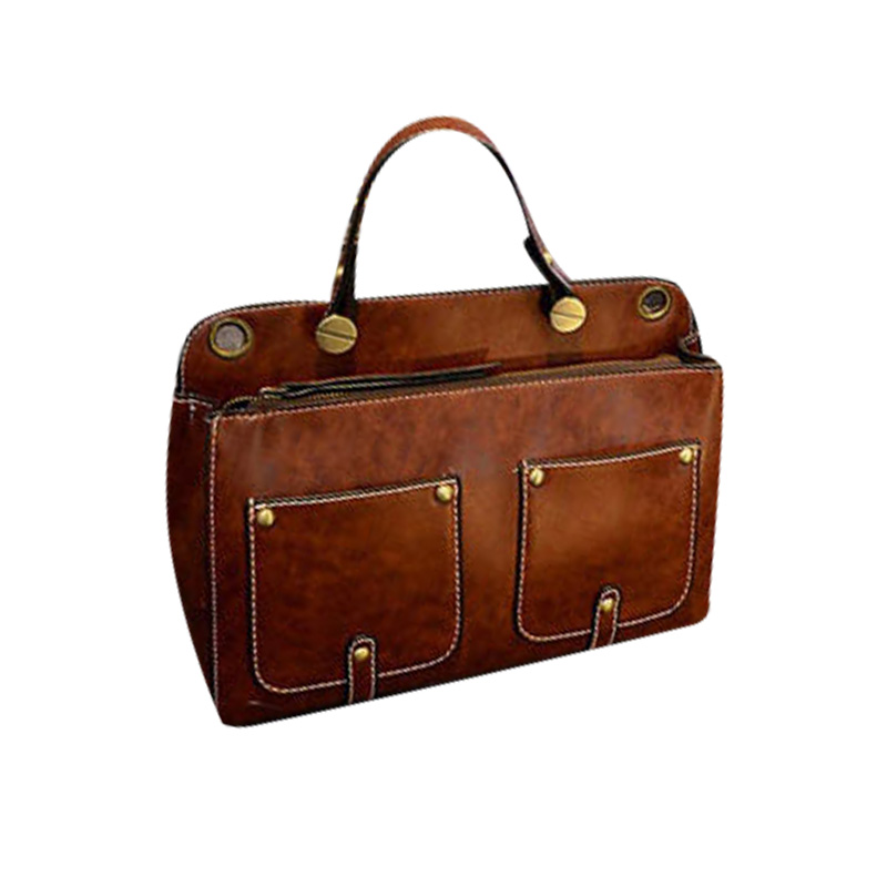 ФОТО New Fashion Leather Vintage Crazy Horse Handbag Women England Style Messenger Bags Female Business Office Bag Lawyer Briefcase