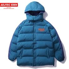 2018 inverno hip hop removível com capuz acolchoado grosso dos homens parkas retalhos casual quente blusão jaquetas casaco un13