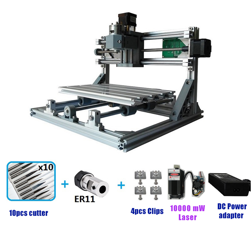 Мини-маршрутизатор CNC3018 лазерная гравировка машина лазерный гравер GRBL DIY хобби машина для дерева PCB ПВХ мини ЧПУ маршрутизатор стол 3018