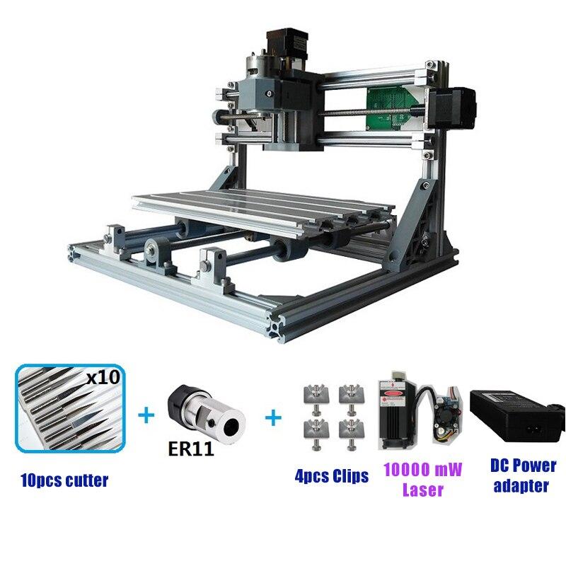 Mini Routeur CNC3018 Laser Machine De Gravure Laser graveur GRBL DIY Passe-Temps Machine pour Bois PCB PVC Mini CNC Table à Toupie 3018