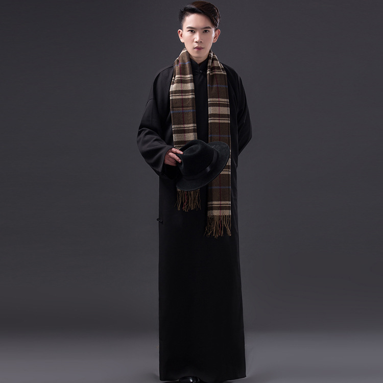 Free-shipping-Black-White-Chinese-ancient-cotton-clothing-men-s-robe-long- gown-cosplay-costume-Crosstalk.jpg 1ef7af1ef
