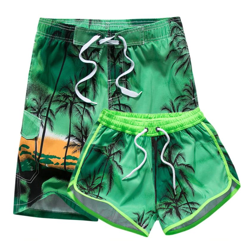 Mens Quick Dry Swim Trunks Swimming Shorts with Mesh Liner Dog Playing Skateboard