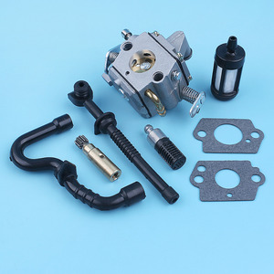 Image 4 - Carburetor Oil Pump Fuel Oil Line Filter For STIHL MS170 MS180 017 018 MS 170 180 Replace Zama C1Q S57B w/ Carb Gaskets