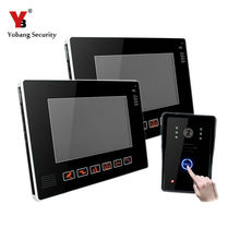 Yobang Security 0.3Mega Pixel Wired 9inch TFT LCD Video Door Phone Intercom System Touch Key Porteros Electricos Con Camaras