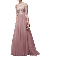 Elegant Women Summer Party Evening Wedding Maxi Long Dresses for Women O Neck fashion Vestidos 2019 Clothes Hot Sale