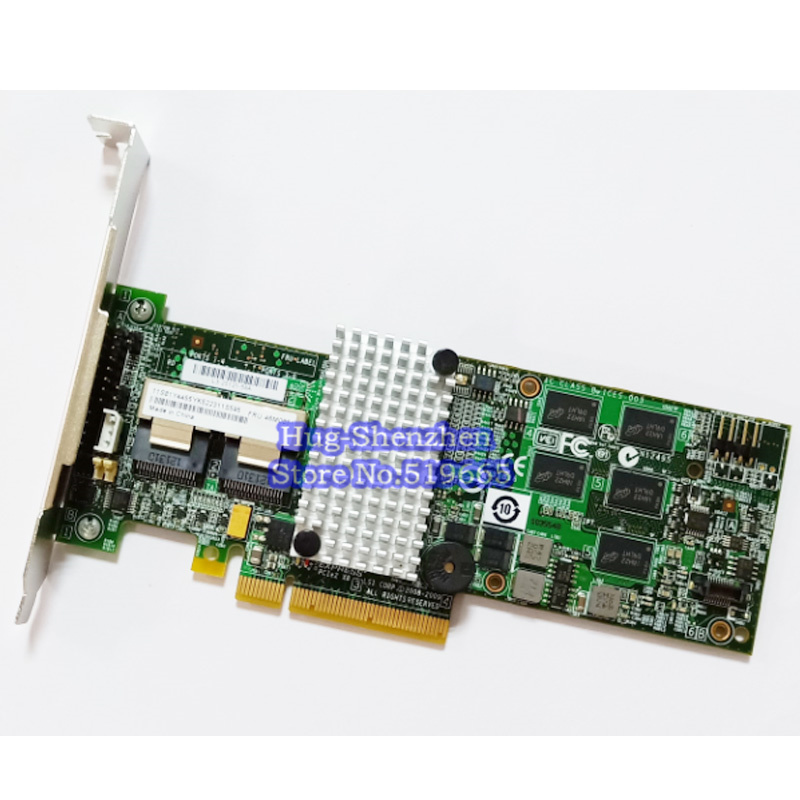 Haute Qualité M5015 M5014 46M0851 46M0918 SAS PCI-E 2.0X8 6 Gb/s Carte RAID 5 support 6T HDD 512RAM 256RAM image