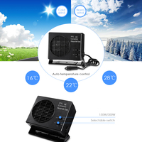 Rectangle Car Heater 12V Portable 2 in 1 150W/300W Defroster Demister Quick Heating Speed Auto Electric Fan Warmer Cooler