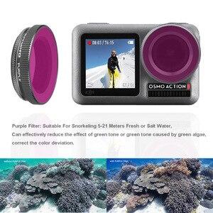 Image 4 - OSMO filtro de Cámara de Acción para buceo, accesorio de lente de vidrio óptico para DJI Osmo ACTION UV ND4/8/16/32 PL