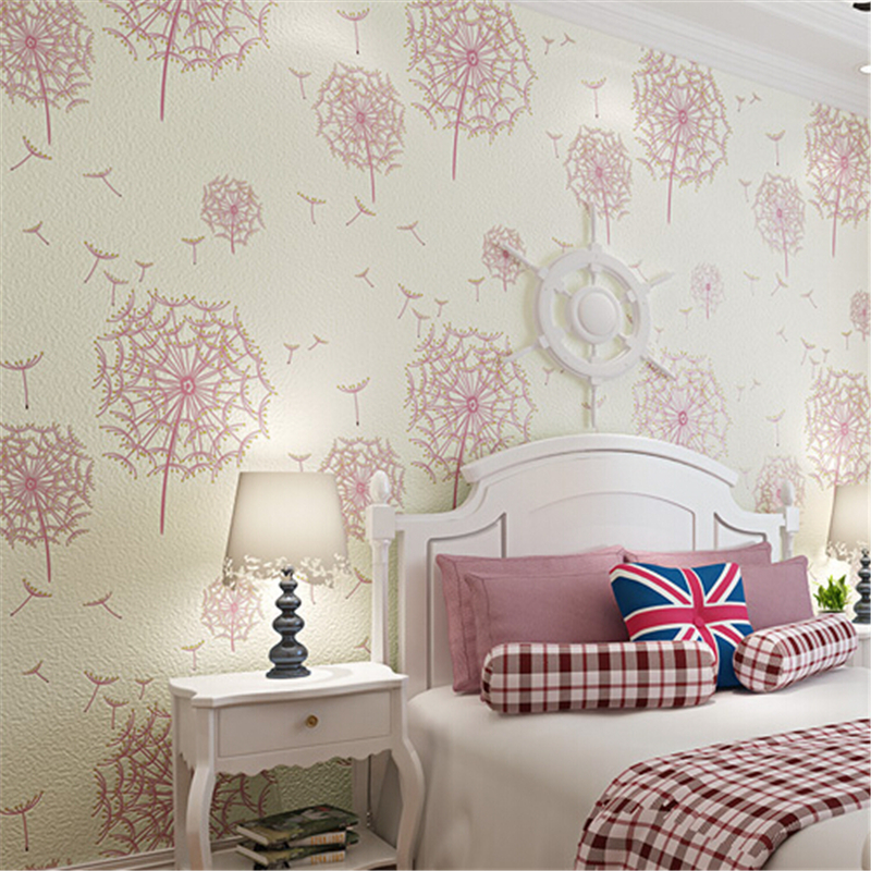 Beibehang End Non Woven Modern American Rustic 3d Flower Wallpaper Roll/ Tapete Papel De Parede For Living Room, Girlu0027s Bedroom In Wallpapers From  Home ...