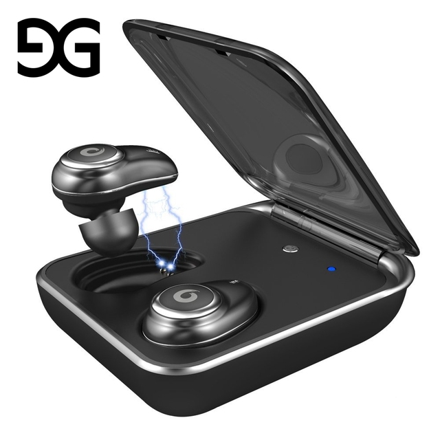 Wireless Earbuds,GUSGU TWS In-Ear Touch Control IPX7 Waterproof Bluetooth Earphone with Charging Case & Noise Canceling Mic