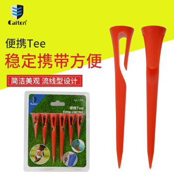 Golf tees 6 Pieces/pack Portable durable Plastic Tees Accessories Tools in 3 Different Sizes a pack free shipping