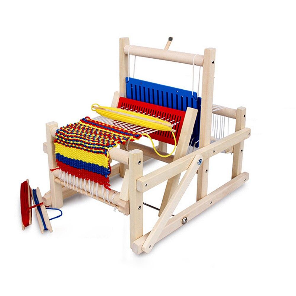 Bébé semblant jouer jouets coloré en bois tissage métier à tisser enfants en bois jouet éducatif cadeau artisanat en bois tissage cadre