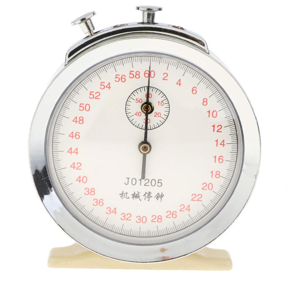New 60s 0.1s Mechanical Stopwatch Chronograph Physics Teaching Aid Lab Instrument