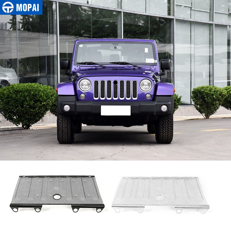 MOPAI For Jeep Wrangler 2016 Up Car Exterior Metal 3D Insect Nets Mesh Grille With Hole Decoration Trim Car StylingMOPAI For Jeep Wrangler 2016 Up Car Exterior Metal 3D Insect Nets Mesh Grille With Hole Decoration Trim Car Styling