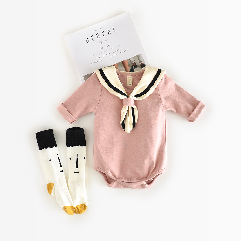 2017 New Arrival Honeycherry Fashion Baby Girls Solid Full O-neck Fits True To Size, Take Your Normal Size Bodysuits