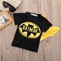 2016 Niño Infantil Chicos de Manga Corta Superman Batmen Camisetas T-Shirt Traje Ropa de Bebé Ropa de Los Muchachos Niños Que Arropan el sistema